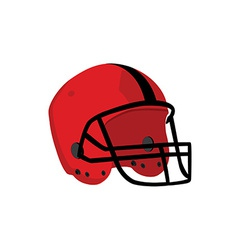 Red rugby helmet vector