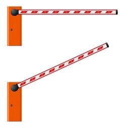 Construction barricade vector
