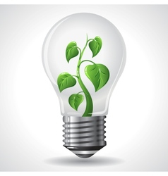 Green energy concept - power saving light bulbs vector