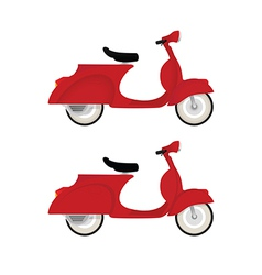 Red vintage motor bike vector