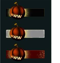 Pumpkin banner vector