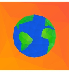 Polygonal earth planet - vector