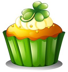 A cupcake for st patricks day vector