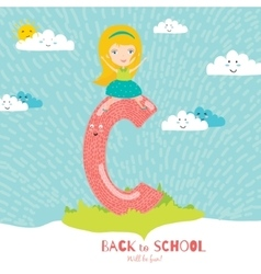 Back to school notes with smiling happy kids vector