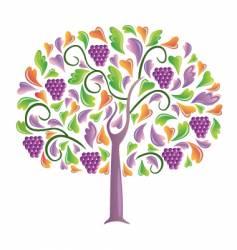 Grapes tree vector