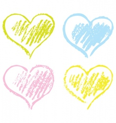 Heart textured image vector
