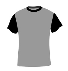 Man shirt short sleeves vector