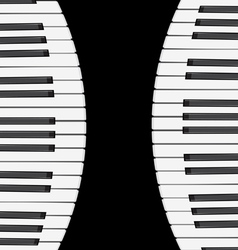 Music background with piano keys vector