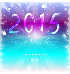Happy new year background with a frozen glass vector
