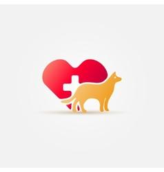 Bright dog vet icon vector