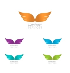 Abstract simple wings logo logo icon vector
