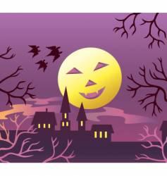 Halloween moon vector