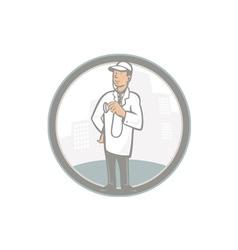 Doctor veterinarian vet with stethoscope cartoon vector