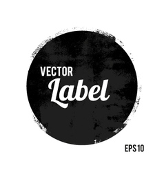 Round grunge design element vector