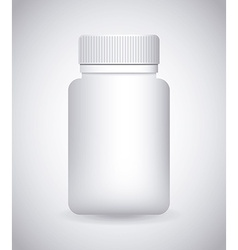 Bottle drugs vector