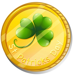 A token for st patricks day vector