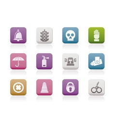 Surveillance and security icons vector