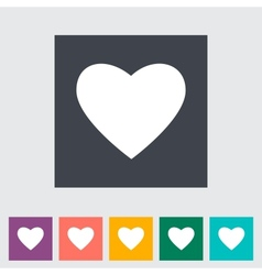 Heart flat icon vector