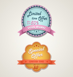 Discount vintage retro design style element vector