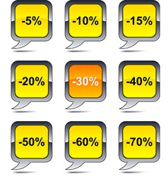 Discount balloon icons vector