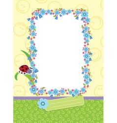 Floral child frame vector