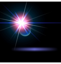 Light flare special effect vector