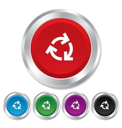 Recycling sign icon reuse or reduce symbol vector