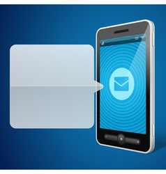 Mobile phone and incoming call icon vector