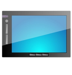 Tablet pc computer with blank screen vector