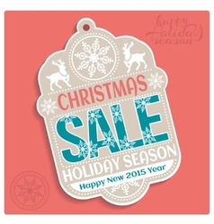 Christmas sale holiday season and happy new 2015 vector