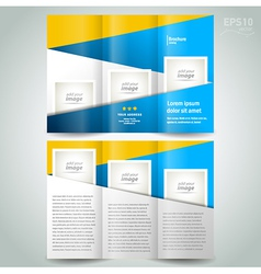 Brochure design template geometric abstract elemen vector