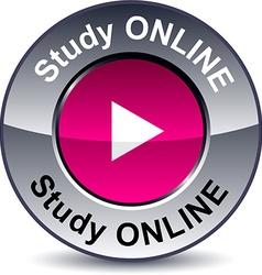 Study online round button vector