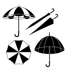 Umbrella design over white background vector