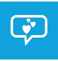 Love message icon vector