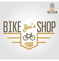 Vintage and modern bicycle shop logo badge or vector