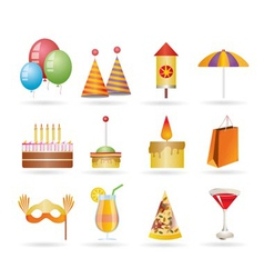 Party and holidays icons vector
