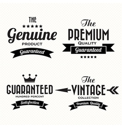 Retro vintage badges and labels vector