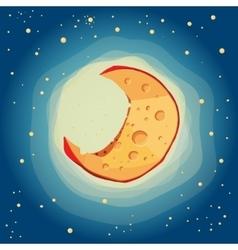 Moon cheese vector