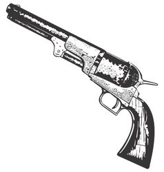 Old west gun vector