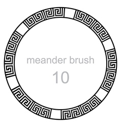 Ancient meander pattern line vector