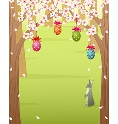 Easter forest vector