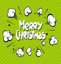 Merry christmas boom explosion vector