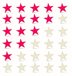 Simple stars set - rating symbols vector