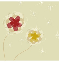 Flower a background vector
