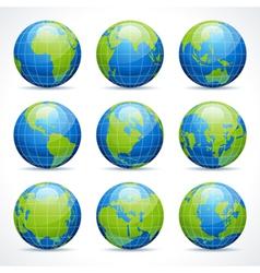Globe earth icons vector