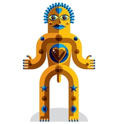 Modernistic geometric cubism style avatar i vector
