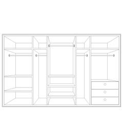 Drawing of a wardrobe vector