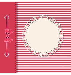 Greeting card or cover with bow space for your vector