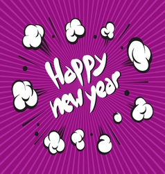 New year boom explosion vector
