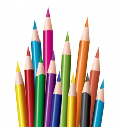 Coloring in pencils vector